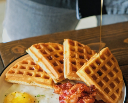 Bacon and Waffle